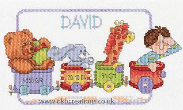 Happy Birthday Train Cross Stitch Kit